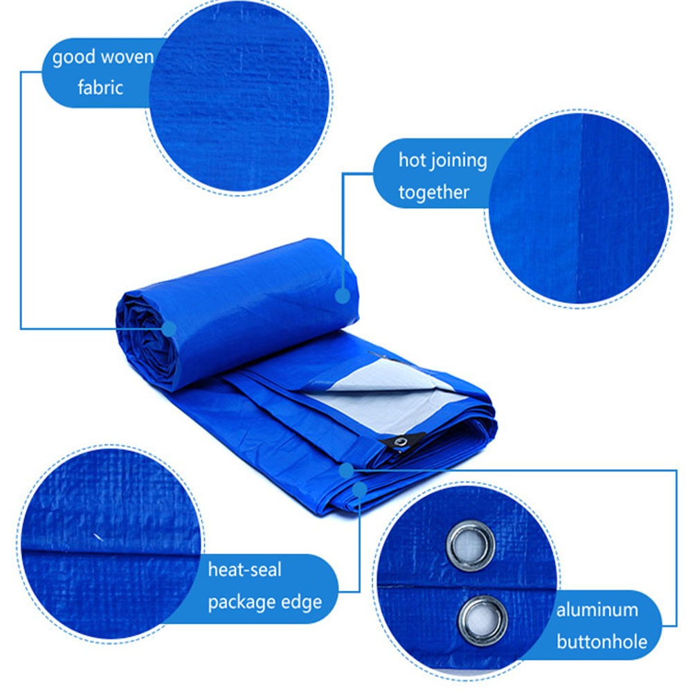 Blue White Tarpaulin Truck Cover