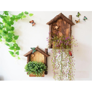 OEM Supplier for Wall Hanging Wooden Christmas Ornaments Origin Rustic Style Flowerpot Wooden Wall Hanging export to United States Minor Outlying Islands Manufacturers