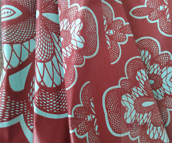 Wax Printed Cotton Fabric
