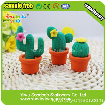 The cactus modelling rubber eraser for home decoration