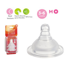 Silicone Baby Milk Feeding Nipple Wide M