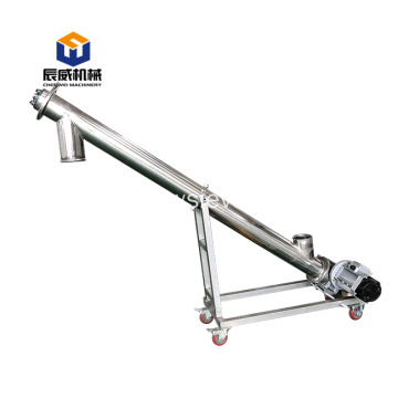 wood chip sawdust small screw auger conveyor