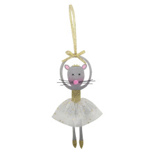 Europe style for Glitter Christmas Ornaments Christmas dancing rat hanging ornaments export to United States Manufacturers