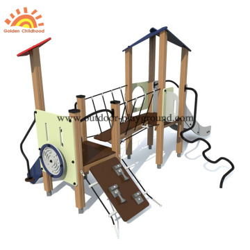 Hpl outdoor playground facility with climb