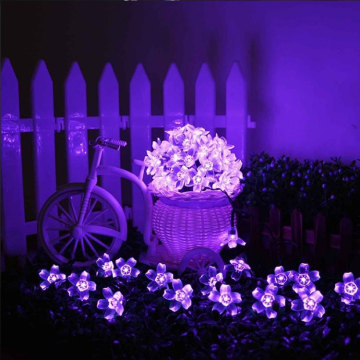 Blossom Flower Garland LED String RGB luces de hadas