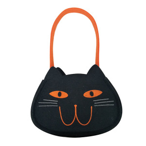"Halloween ""trick or treat "" tote candy bag"