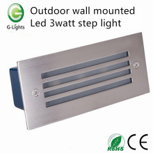 China for China Foot Step Light, Indoor Led Step Light, Led Stair Step Light Manufacturer and Supplier Outdoor wall mounted led 3watt step light export to India Factories