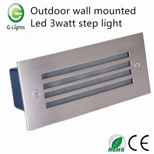 Hot-selling attractive for Led Step Light Outdoor wall mounted led 3watt step light export to Indonesia Factories