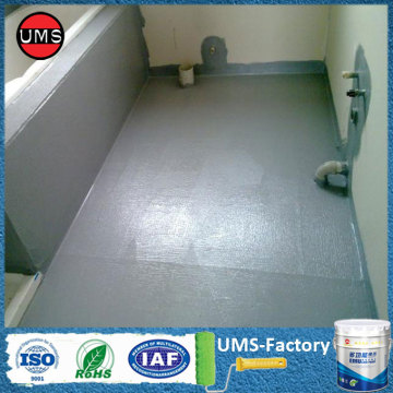 Waterproofing basement concrete floor paint