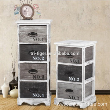 Factory Direct Antique Wood Night Stand Bedside Table Drawers Storage Cabinet