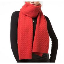 Pure cashmere knitted scarf