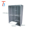 Double Door Non-woven Fabric Folding Bedroom Wardrobe Closet