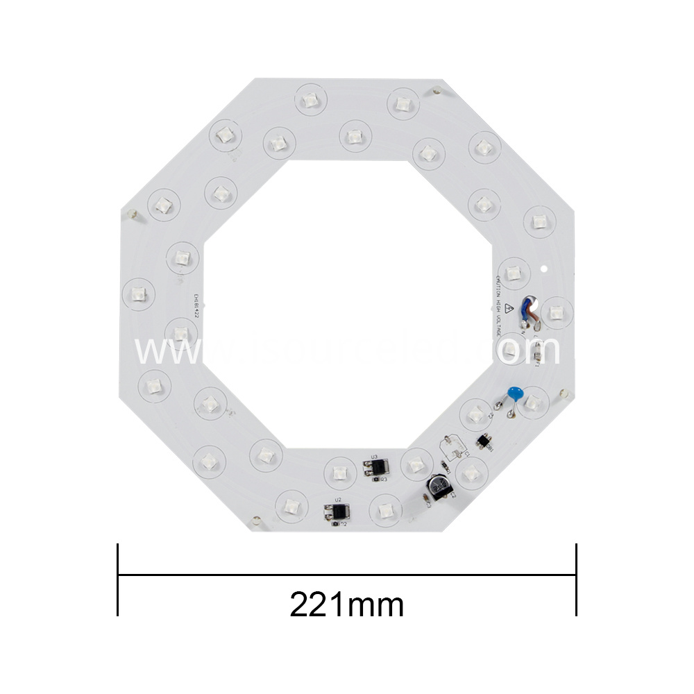 Front view of AC linear Lens white light 26W ceiling module