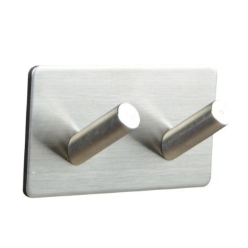 Adhesive Wall Door Back Double-Hook