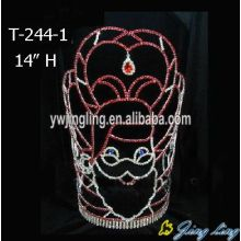 Wholesale Price China for Christmas Party Hats Tall Grandfather Christmas Pageant Crowns supply to Nauru Factory