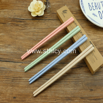 Stainless Steel Wheat Straw Colored Chopsticks