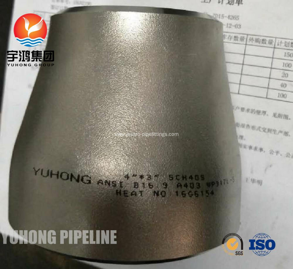 "Butt Weld Fittings 1/2"" to 60"" NB Eccentric Reducer ASTM A403 WP317L B16.9"