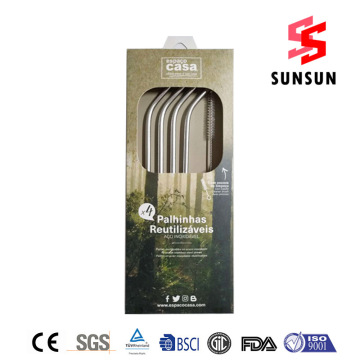 18/8 Multipurpose Stainless Steel Straw Set Wholesale