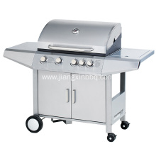 Cheapest Factory for Propane BBQ 4 Burners Stainless Steel Gas BBQ Grill export to Poland Manufacturer