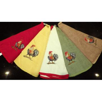 Soft Embroidery Washcloth Dobby Cotton Hand Towel