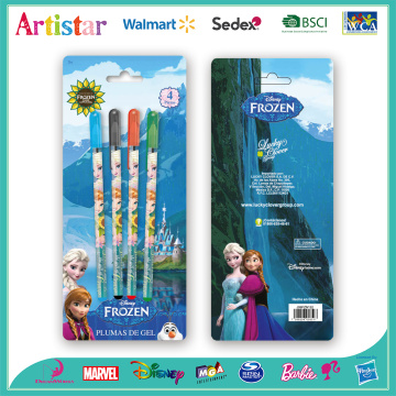 Disney Frozen 4 gel pens with blister card