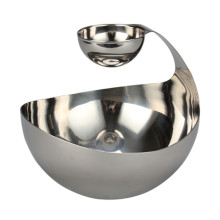 Stainless Steel Salad Bowl Swan-neck Design For Food