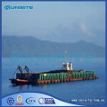 Sand dredging container barge
