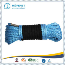 China for Synthetic Winch Rope 12mm UHMWPE Winch Rope With Blue/Orange Color export to Cuba Factory