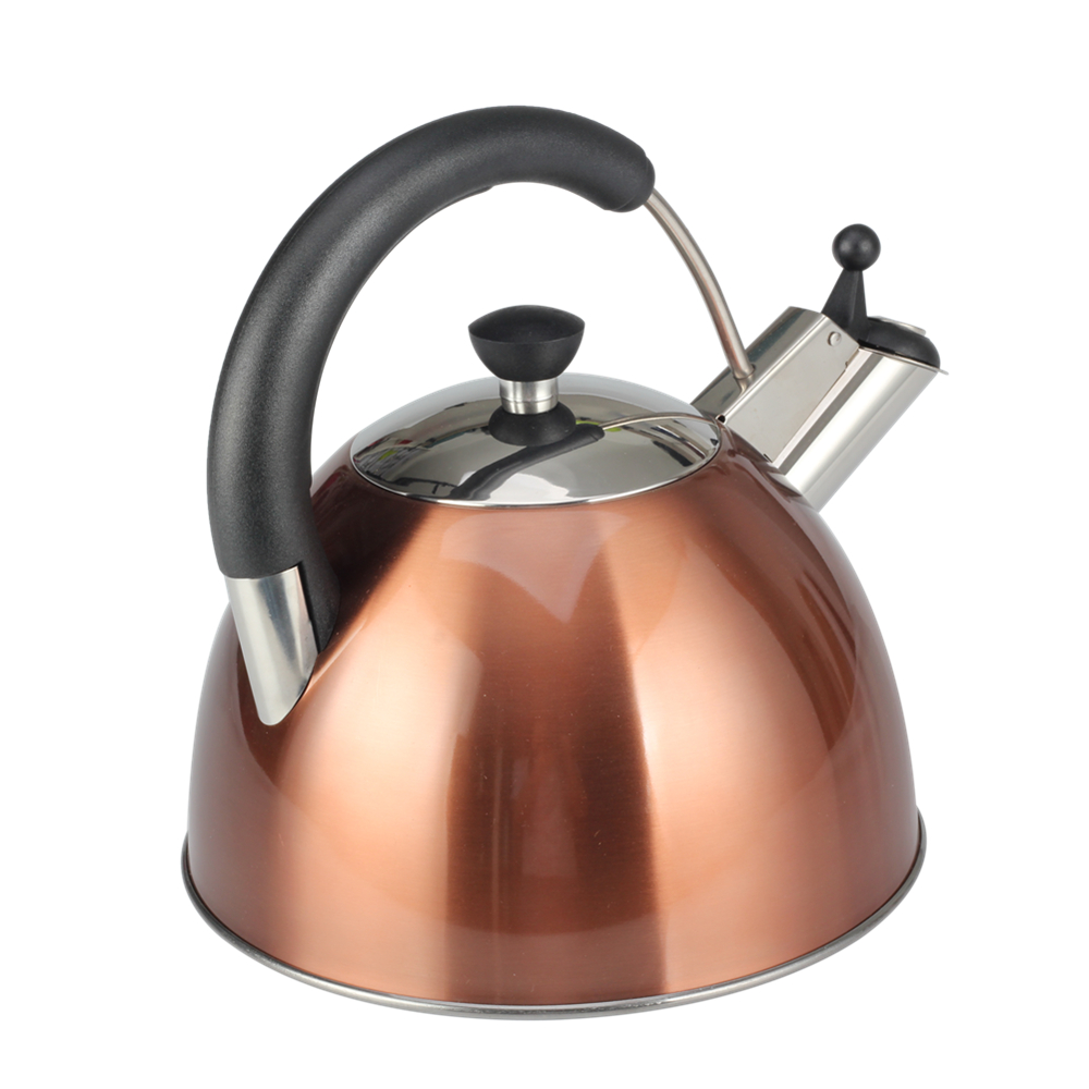 Painting Copper Color Whistling Kettle