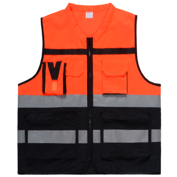 Shot sleeve Traffic warning vest