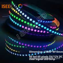 12V Pixel LED Strip Pixel to Pixel Programmable