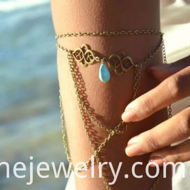 Chain Tassel Upper Arm Bracelet