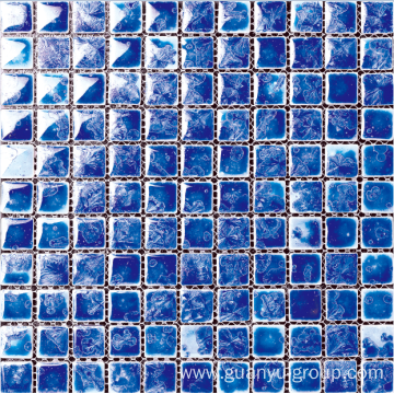 blue glazed polished mosaic