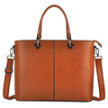 Fashionable Leather Tote Laptop Bag for Lady
