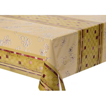 Double Face Emboss printed Gold Silver Tablecloth Etc