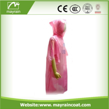 PE Disposable One time Raincoat Poncho