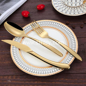 3 Piece Gold Stainless Steel Flatware Set