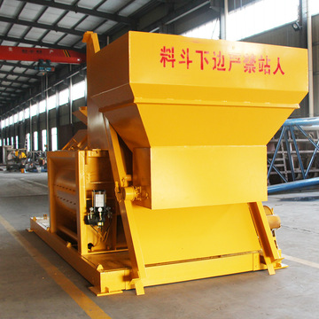Stationary twin-shaft JS1000 ready mix concrete mixer
