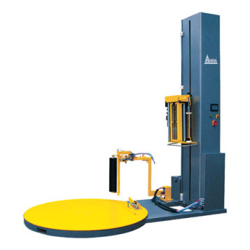Automatic pre-stretch pallet wrapper