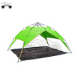 double layer Green camping tent for 3-4 person