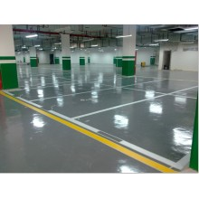 Gray parking lot self-leveling epoxy floor