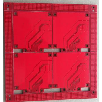 2 layer red solder ENIG PCB