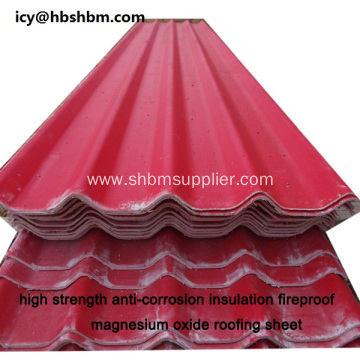 High Strength Fireproof MGO Type Of Roofing Sheet