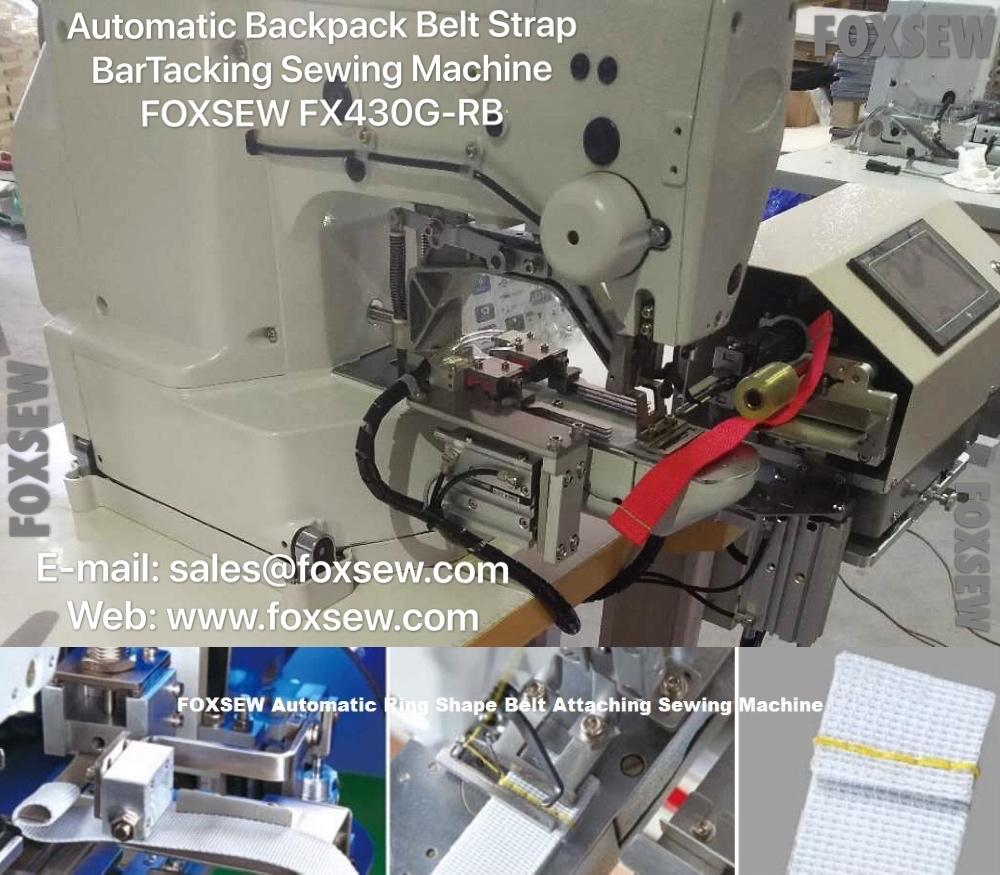 Automatic Backpack Belt Strap BarTacking Sewing Machine -3