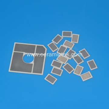 Small size metallized ceramic insulating plate