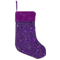 Small sequin XMAS hanging decoration Christmas Stocking