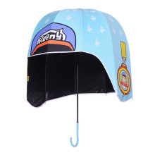 Dome sturdy  helmet shaped rain kid umbrella
