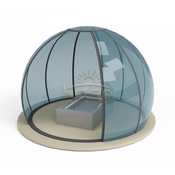 High Quality for China Swimming Pool Enclosures,Retractable Pool Enclosure,Retractable Swimming Pool Enclosures Manufacturer Enclosure Retractable Rain Shelter Hot Tub Dome supply to Afghanistan Manufacturers