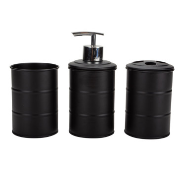 Black Bathroom Accessories Set 3