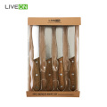 Four Piece Burger Knife Set